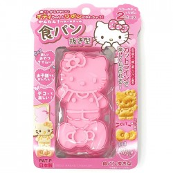 Set Molde Cortador Pan Hello Kitty