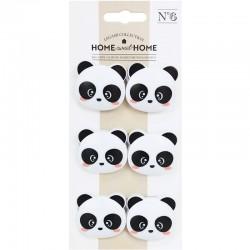 Funky Panda Clips Set
