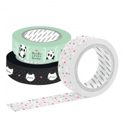 Set Washi Tapes Panda Loves Bamboo