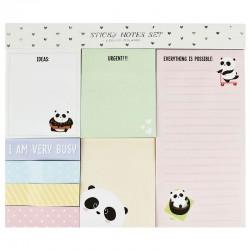 Set Notas Adhesivas Funky Panda