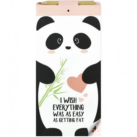 Bloco Notas Magnético Getting Fat Panda