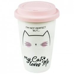 My Cat Loves Me Travel Mug