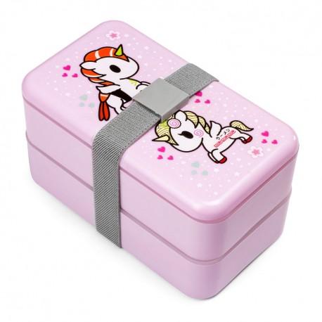 Unicorno Sakura Double Layer Bento Box