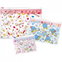 Pochacco Kawaii Desu! Zippered Cases Set