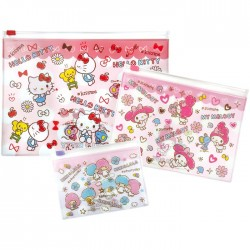 Hello Kitty Kawaii Desu! Zippered Cases Set
