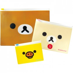 Rilakkuma Zippered Cases Set