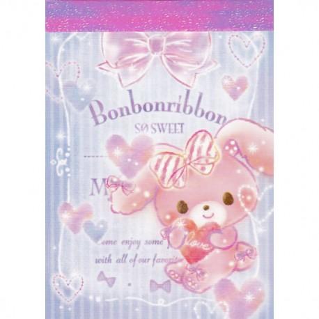 Mini Bloco Notas Bonbon Ribbon So Sweet