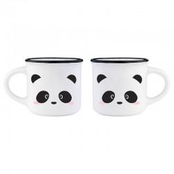 Funky Panda Coffee Mugs Gift Set