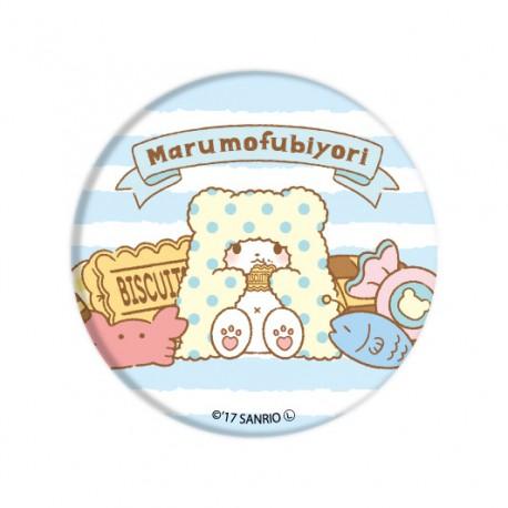 Marumofubiyori Biscuits Button Badge
