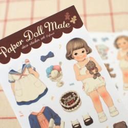 Set Pegatinas Paper Doll Mate Pajama