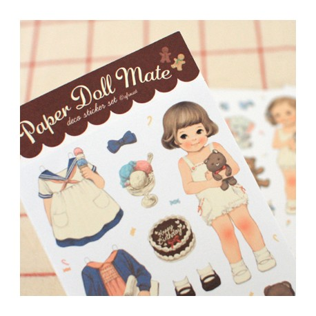 Stickers Paper Doll Mate Pajama