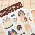 Paper Doll Mate Pajama Stickers Set