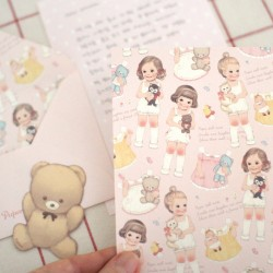 Mini Set Cartas Paper Doll Mate