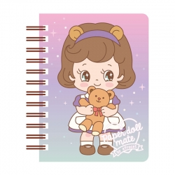 Mini Caderno Paper Doll Mate Kawaii Sally