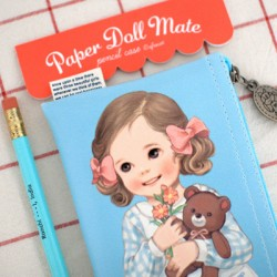 Paper Doll Mate Bows Pen Pouch