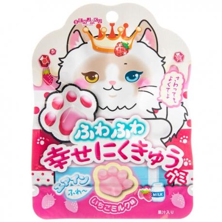 Happy Nikukyu Gummy Strawberry Milk