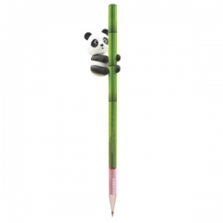 Lápiz I ♥ Bamboo Panda Topper 3D