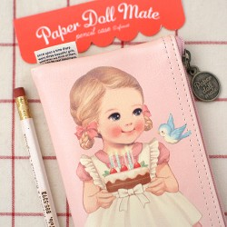 Estojo Paper Doll Mate School
