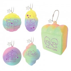 Little Twin Stars Rainbow Bread Squishy Gashapon