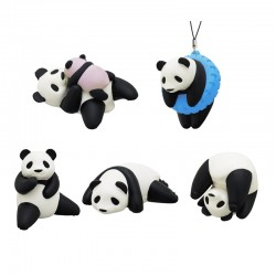 Panda Pose Squishy Gashapon