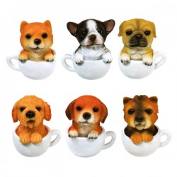 Coffee Cup Puppy Mini Figure Gashapon