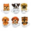 Coffee Cup Puppy Mini Figure Gashapon