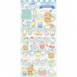 Mamegoma Cafe Burger Set Stickers
