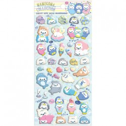 Mamegoma Aquarium Happy Life Puffy Stickers