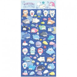 Mamegoma Aquarium Puffy Stickers