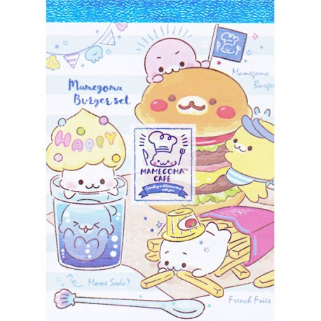 Mini Bloco Notas Mamegoma Cafe Burger Set