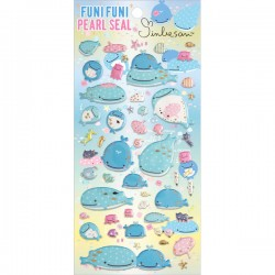 Jinbesan Funi Funi Pearl Puffy Stickers