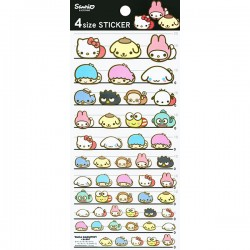 Sanrio Characters x Moni Moni Animals 4 Size Stickers