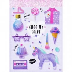 Mini Bloc Notas Choo My Color Purple Cosmo