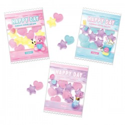 Choo My Color Candy Bag Erasers Set