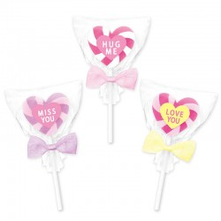 Goma Conversation Heart Lollipop