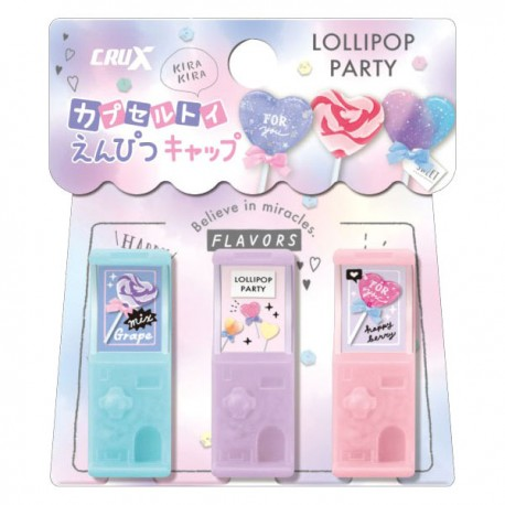 Lollipop Party Gashapon Machine Pencil Caps