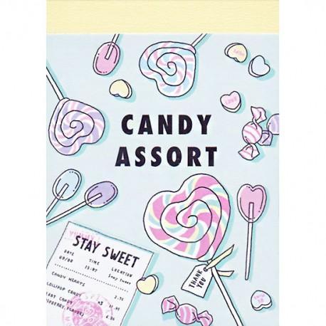 Mini Bloco Notas Candy Assort