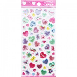 Party Candy Hearts Stickers