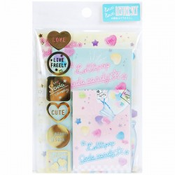 Lollipop Soda Candy Mini Letter Set