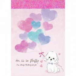 Mini Bloco Notas Fluffy Puppy