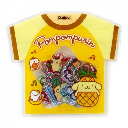 Summer T-Shirt Pompom Purin Stickers Sack