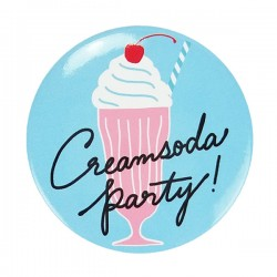 Cream Soda Party! Button Badge