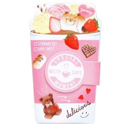 Bloco Notas Die-Cut Melty Cafe Bear Marshmallow