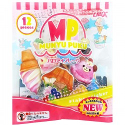Saco Stickers Puffy Munyu Puku Ice Creams