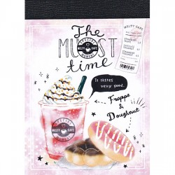 Mini Bloco Notas Melty Cafe Frappe & Doughnut