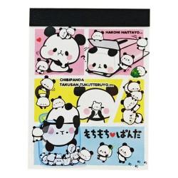 Mini Bloco Notas Mochi Panda Chibi