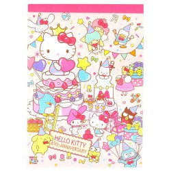 Bloco Notas Hello Kitty 45th Anniversary