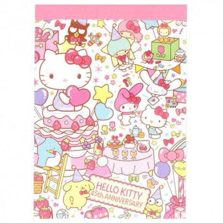 Hello Kitty 45th Anniversary Mini Memo Pad