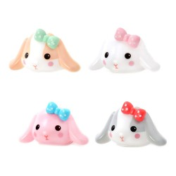 Poteusa Loppy Bunny Bow Clip