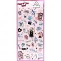 Pink Chu Cry Baby Puffy Stickers